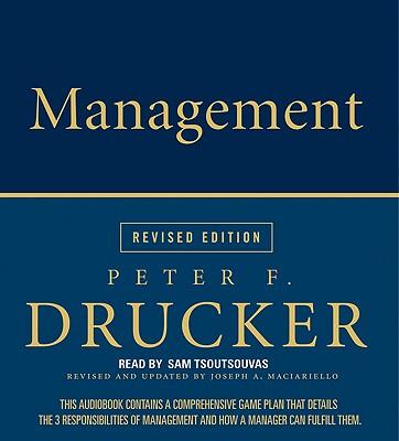 [CD] Management By Drucker, Peter Ferdinand/ Tsoutsouvas, Sam (NRT)